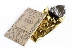 Beta 5 artisanal chocolates - design by Giasfurd & Walker, via The Dieline