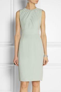 Burberry London|Silk-crepe sheath dress|NET-A-PORTER.COM