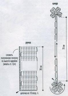 Черное платье и сумочка | Вязание крючком, схемы вязания, бесплатное вязание крючком