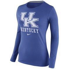Kentucky Wildcats Nike Womens Logo Long Sleeve T-Shirt – Royal Blue