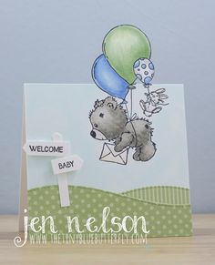 The Tiny Blue Butterfly: Welcome Baby Welcome Baby, Blue Butterfly, Baby Cards, Baby Theme, Lily, Place Card Holders, Scrapbook, Paper Crafting, Children