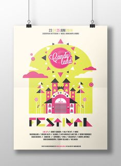 Graduation project - Candyland Festival on Behance