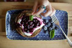 2 Ingredient gluten & dairy FREE Pancakes!! yummy!