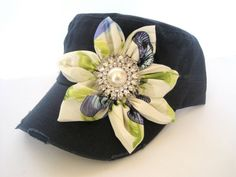 Navy Military Distressed Cadet Army Hat with a by theraggedyrose, $45.00