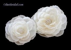 Set of 2 Whimsical Ivory Bridal Silk Flowers with Rhinestones Hair Clips >>> Continue to the product at the image link. Wholesale Hair Accessories, Organizing Hair Accessories, Hair Accessories For Women, Bridal Hair Flowers, Silk Flowers, Bridal Hairpiece, Wedding Hair Pieces, Ivoire, Flower Brooch
