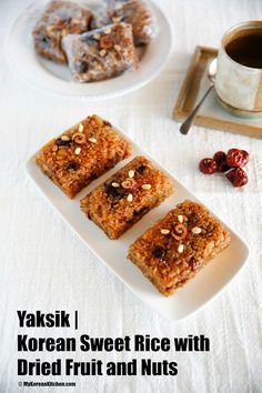 Korean sweet rice with dried fruit and nuts (Yaksik, Yakshik or Yakbap) recipe. It's perfect for on the go breakfast, snacks or dessert!