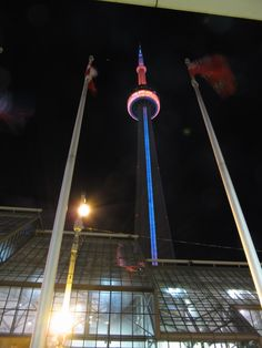 Out the tower lit blue and orange last night for world cancer day la