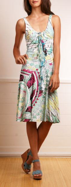Roberto Cavalli multicolored print dres