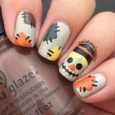 This is why today we found the best fall nail art. We accept begin 33 of the best fall nail art designs of all time. These fall nail art designs are incredible. Bravo to these amazing nail artists who think of these creative ideas. Fall Nail Art Designs, Creative Nail Designs, Halloween Nail Designs, Halloween Nail Art, Creative Nails, Holiday Nail Designs, Halloween Party, Halloween Makeup, Spooky Halloween
