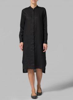 MISSY Clothing - Linen Long Sleeve Long Blouse