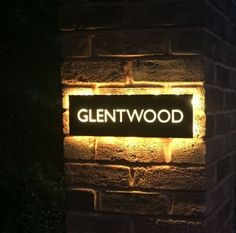 Our stainless steel house name plaques look stunning at night with back lit LEDs These are unique bespoke items laser cut from 304 grade House Name Plaques, House Name Signs, House Names, Home Signs, Furniture Logo, Diy Furniture Plans, Steel Furniture, White Furniture, Furniture Design