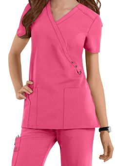 Dickies Xtreme Stretch crossover scrub top | Scrubs and Beyond