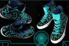 """Twilight Princess Painted Shoes   23 Perfect Gifts For """"Legend Of Zelda"""" Fans"""