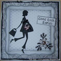 """Good Luck """"Maternity Leave"""" Card with Cricut New Arrivals - Mat Leave, Leaving Cards, Pregnancy Pillow, Good Luck, Baby Cards, Felt Crafts, Scrapbooks, I Card, Maternity"""