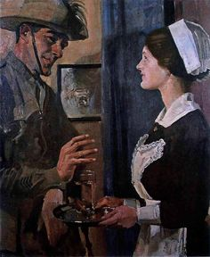 George Lambert - The Trooper and the Maid