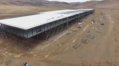 Tesla's Gigafactory: Drone's Eye View of the Massive Battery Factory | This is the pilot site and it's only 1/4 done only!