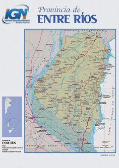 MapasBlog: Mapa da província de Entre Rios - Argentina