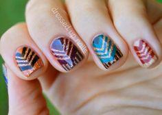 amazing glitter geometric nails