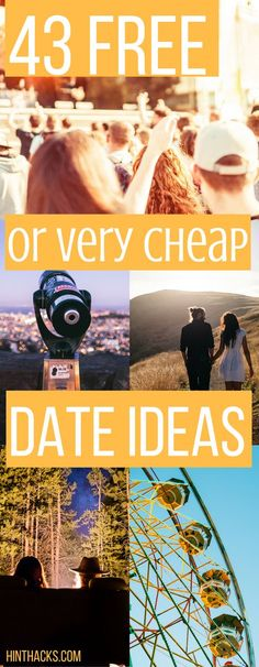 43 free and really cheap date ideas for summer great for teens, college students, and married couples. budget date | fun date | home date | winter date | romantic date | creative date | first date |hinthacks.com