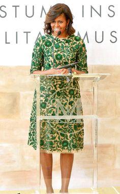 Emerald Sheath: Michelle Obama's Best Looks
