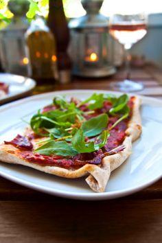 Sourdough Pizza, Mozzarella, Vegetable Pizza, Hummus, Tacos, Vegetables, Cooking, Ethnic Recipes, Green Garden