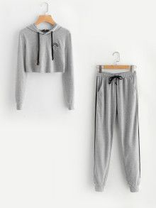 Shop Rainbow Patch Heathered Hoodie And Sweatpants Set online. SheIn offers Rainbow Patch Heathered Hoodie And Sweatpants Set & more to fit your fashionable needs. Pajama Outfits, Lazy Outfits, Cute Comfy Outfits, Sporty Outfits, Teenage Outfits, Outfits For Teens, Stylish Outfits, Girls Fashion Clothes, Teen Fashion Outfits