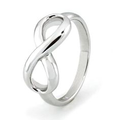 Sterling Silver Infinity Ring – Available Size: 4, 4.5, 5, 5.5, 6, 6.5, 7, 7.5, 8, 8.5, 9, 9.5, 10
