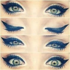 eyes - liquid eyeliner, thick cat eye