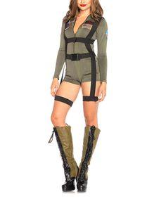 Top Gun Romper Costume Set - Women