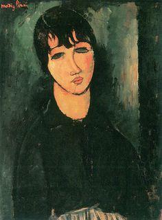 #La #cameriera è un dipinto ad olio su tela di cm 73 x 54 realizzato nel 1916…