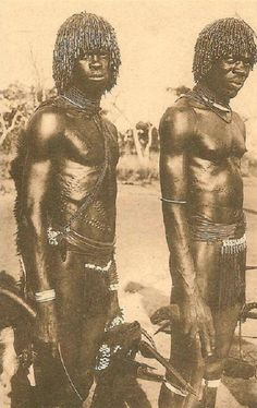 Lobi men, Ivory Coast, 1940's by Jacques Soubrier   Photo from the book of Jacques Soubrier, Savanes et Forêts (savannahs and forests), J. Susse editions, Paris, 1944.