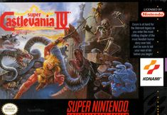 Super Castlevania 4 - SNES (1991) Another classic launch title for the SNES and my favourite Castlevania game (I haven't played Symphony of the Night yet). Castlevania's first entry in the 16-Bit market with vastly updated graphics and a beautiful soundtrack. Simon is now able to crack his whip in 8 different directions or hold down your whip button and just use your whip as a shield.  I can always keep coming back to this game.