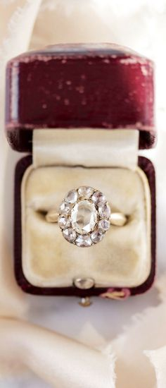 An AMAZING Vintage Rose Cut Cluster Engagement Ring! The Laverne Ring from Victor Barboné Jewelry is an amazing piece and a unique stunner!