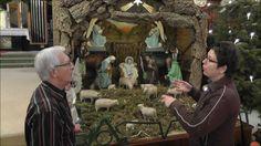 Kerststal (100 jaar oud) in katholieke kerk Dedemsvaart