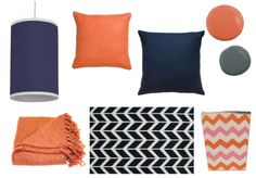 Navy Blue and Orange Home Accents from Pure Home