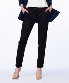 Look at this Guita Black Straight-Leg Pants on #zulily today!