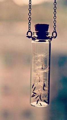 dandelion wish necklace