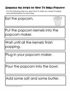 given 24 April Procedural Writing, Writing Genres, Paragraph Writing, Writing Lessons, Teaching Writing, Writing Prompts, Story Sequencing Worksheets, Writing Worksheets, Sequencing Activities