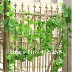 Folhas artificiais Ivy Decoração Floral Vine Artificial Flor Planta Folhagem Frete grátis & Drop transporte em Flores & coroas decorativas de Casa & jardim no AliExpress.com | Alibaba Group