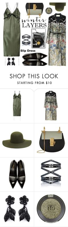 """""""Winter Layers: Slip Dress"""" by the-reluctant-dragon ❤ liked on Polyvore featuring Alexander Wang, Valentino, Chloé, Yves Saint Laurent, Eva Fehren, Topshop, women's clothing, women, female and woman"""