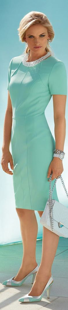 MADELEINE Dress | Look and Love | Legally Sexy blonde in teal Dress | Uplifting, energetic and chic, teal has the earthy quality of green combined with the lofty nature of blue making it a perfect color choice for people who are down to earth yet sophisticated in style | #thejewelryhut