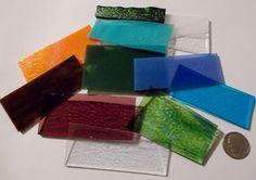 1/4lb Opal Transparent and Iridescent Mix 90 COE Fusible Scrap Assortment (E)