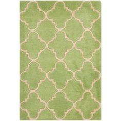 Safavieh Handmade Moroccan Chatham Green Wool Rug, 8 X 10