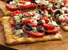 Olives, Tomatoes And Feta With A Touch Of Sweet Basil