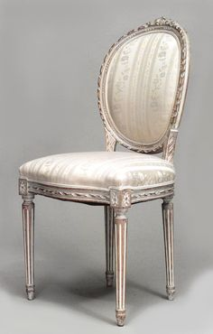 French Louis XVI seating chair/set bleached