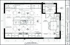 Kitchen floor plan designed by Jeff (BYUI).