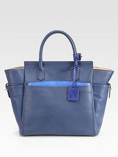 Reed Krakoff - Atlantique Tote Bag - Saks.com $1490. you can't realistically expect me to be able to deal with this. no strap.