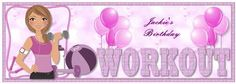 Workout Lady Word Dl Topper on Craftsuprint created by Julie McGregor - I printed my own greeting onto the sheet then printed and cut it out, I added the base onto the card with DST, the other elements I added with foam pads