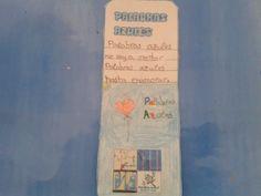 Marcador Palabras Azules de Alejandro M. de4º de Primaria