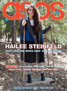 ASOS Magazine November 2013 Feat. Hailee Steinfeld by Michael Hauptman-text behind the person